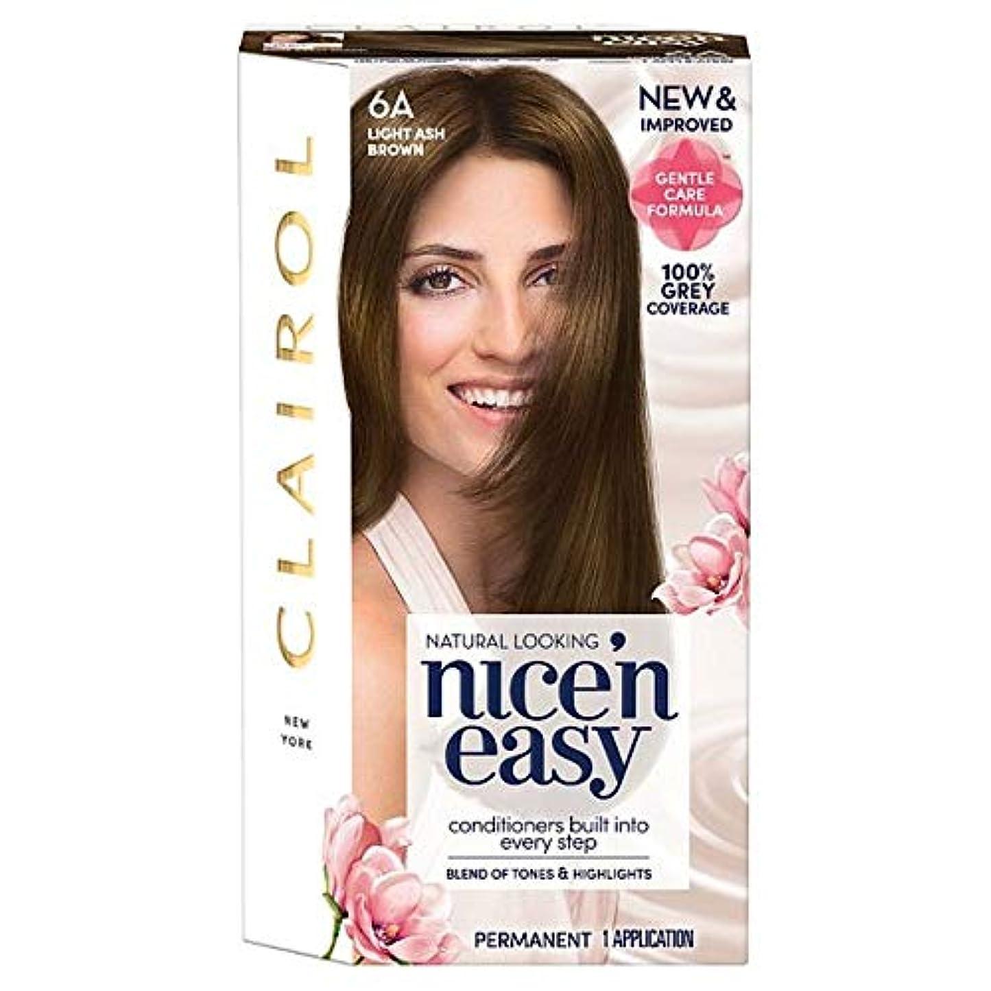 仲間、同僚麻痺より[Nice'n Easy] クレイロール素敵な「N簡単軽灰褐色6Aの染毛剤 - Clairol Nice 'N Easy Light Ash Brown 6A Hair Dye [並行輸入品]