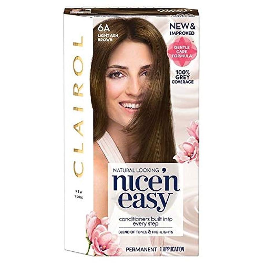 極めて艶免除[Nice'n Easy] クレイロール素敵な「N簡単軽灰褐色6Aの染毛剤 - Clairol Nice 'N Easy Light Ash Brown 6A Hair Dye [並行輸入品]