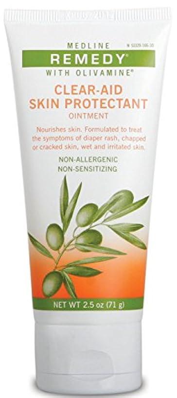 賞土砂降り裸Medline Remedy Olivamine clear-aidスキンProtectant、2.5オンス