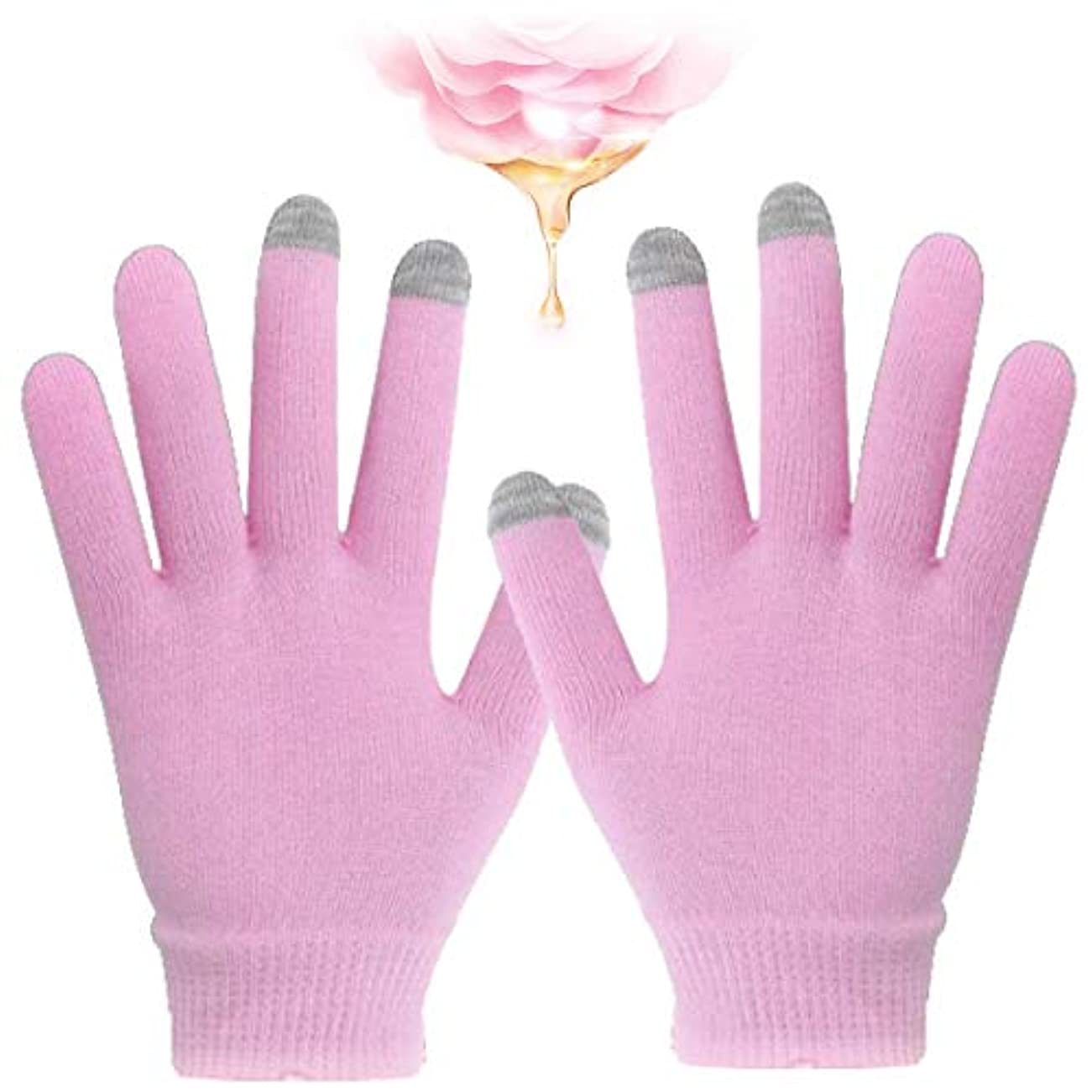 ゲージ敬意抜本的なハンドケア 手袋 スマホ対応 手袋 ゲル 保湿 美容成分配合 手荒れ 対策 おやすみ スキンケア グローブ うるおい 保護 タブレット