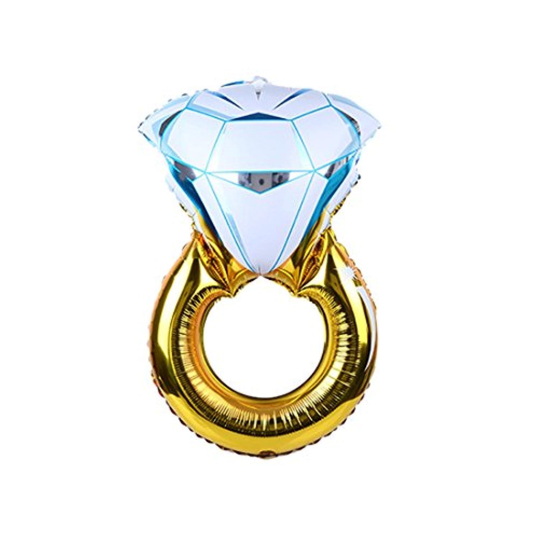 恋人ウェディング結婚バルーン、ダイヤモンドバルーンブライドリング箔バルーンM