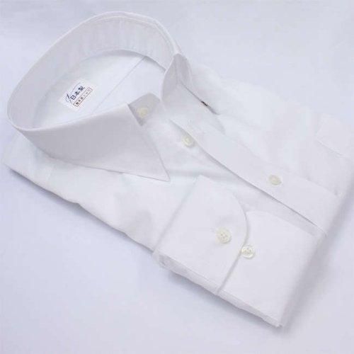 軽井沢シャツ メンズ 長袖ビジネスシャツ (形態安定シャツ) スナップダウン ホワイト 綿ポリ混(100双) [A10KZZD15]