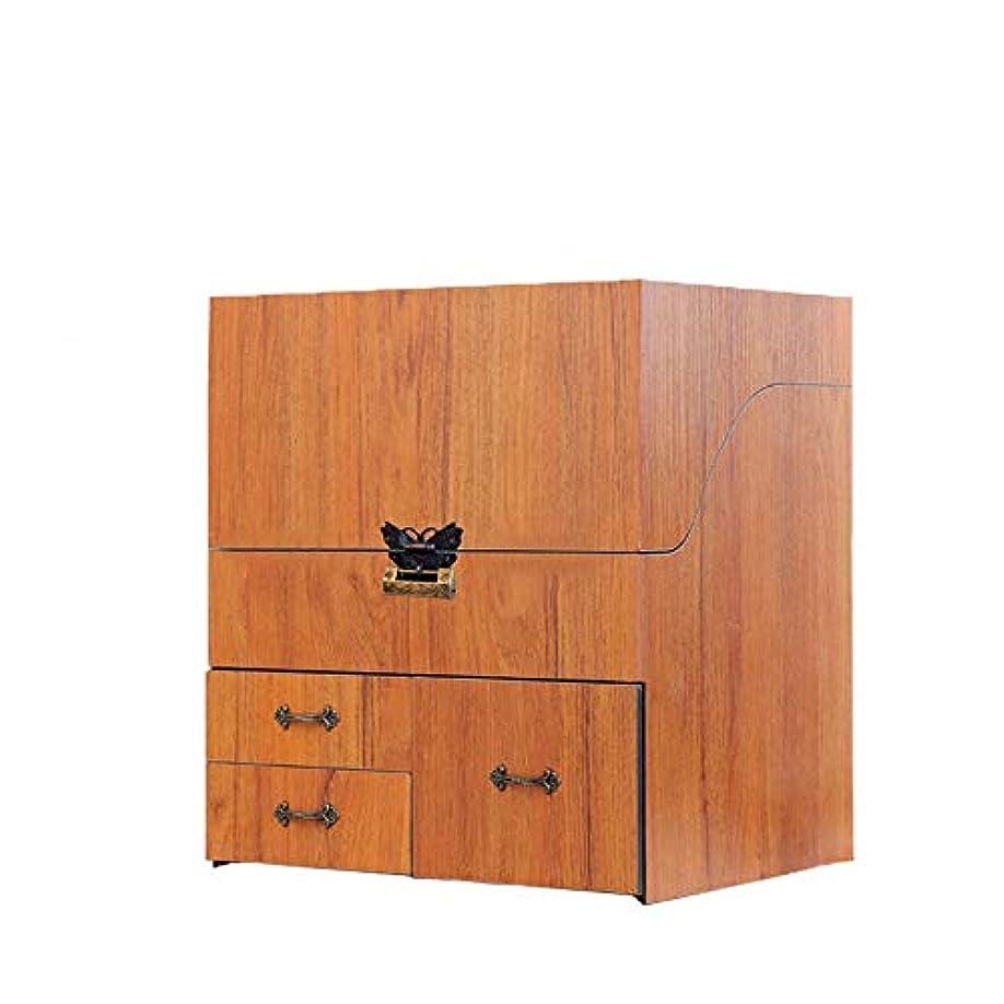 奨励します計算するアクセスできないメイクボックス コスメボックス ジュエリー収納ボックス 鏡付き 大容量 木製 化粧品収納 ジュエリー収納 小物入り おしゃれ 可愛い ホワイト コルク ピンク プレゼント