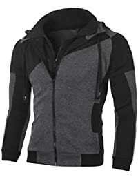 Keaac メンズカジュアルファッション郵便ロングスリーブパーカースウェットシャツジャケット