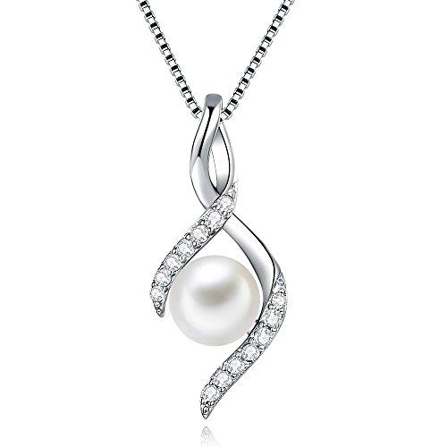 F.Bird 真円 本真珠?パールネックレス シルバー925 真珠 ネックレス 誕生日 プレゼント 女性 40cm+5cm