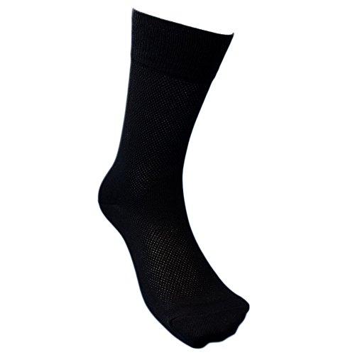 高級コーマ綿糸使用でソフト 安全靴や作業用に 黒5足組 25~27