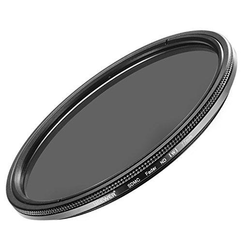 Neewer 77MM超薄いND2-ND400フェーダー中性密度レンズフィルター 調節可能 77MMフィルターネジサイズが付いてあるカメラレンズに対応 光学クラスで作られた