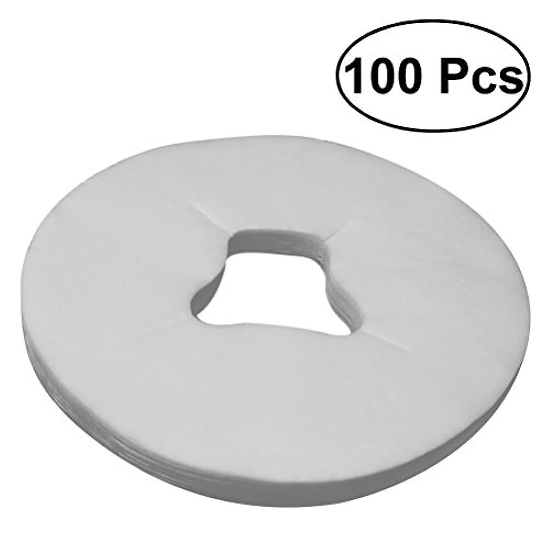 壮大湿度パールULTNICE マッサージテーブル用100PCSディスポーザブルフェイスレストカバー