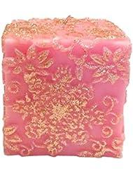 スノーフレークフラワー Cube (Pink×Gold Gliter)