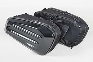 タナックス (TANAX) サイドバッグ モトフィズ(MOTOFIZZ) スポルトシェルケース ブラック (容量36ℓ 片側18ℓ) MFK-217