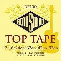 【6セット】ROTOSOUND/ロトサウンド ROT-RS200 [12-52] フラットワウンド ギター弦