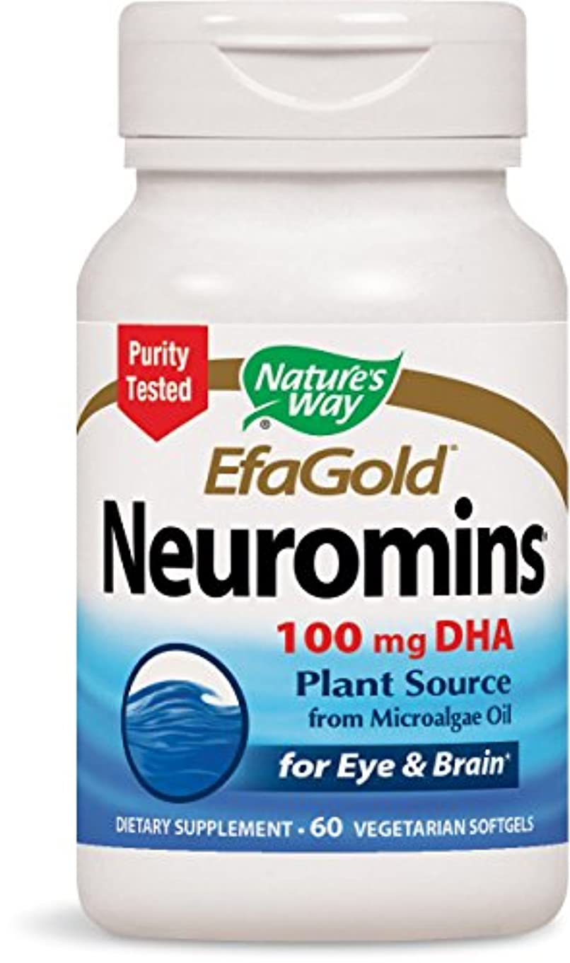 偽後ろ、背後、背面(部通常ニューロミンDHA 60錠 海外直送品