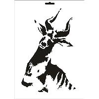 umr-design w-139 Billy Goat Wandstencil A4 W-139 A4