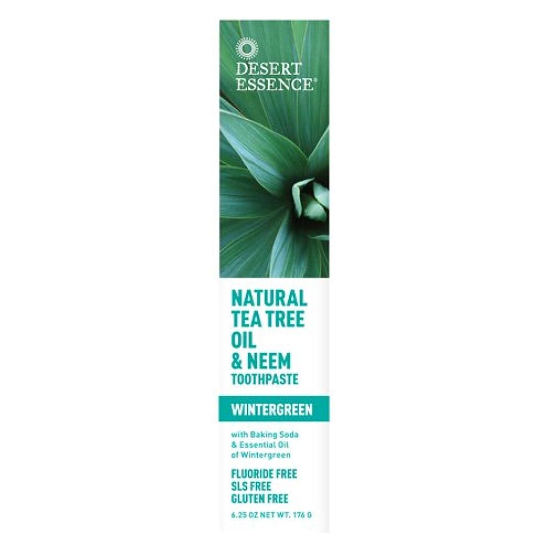 誘導ぶら下がる憤るDesert Essence, Tea Tree Oil & Neem Tooth Winter 6.25 oz