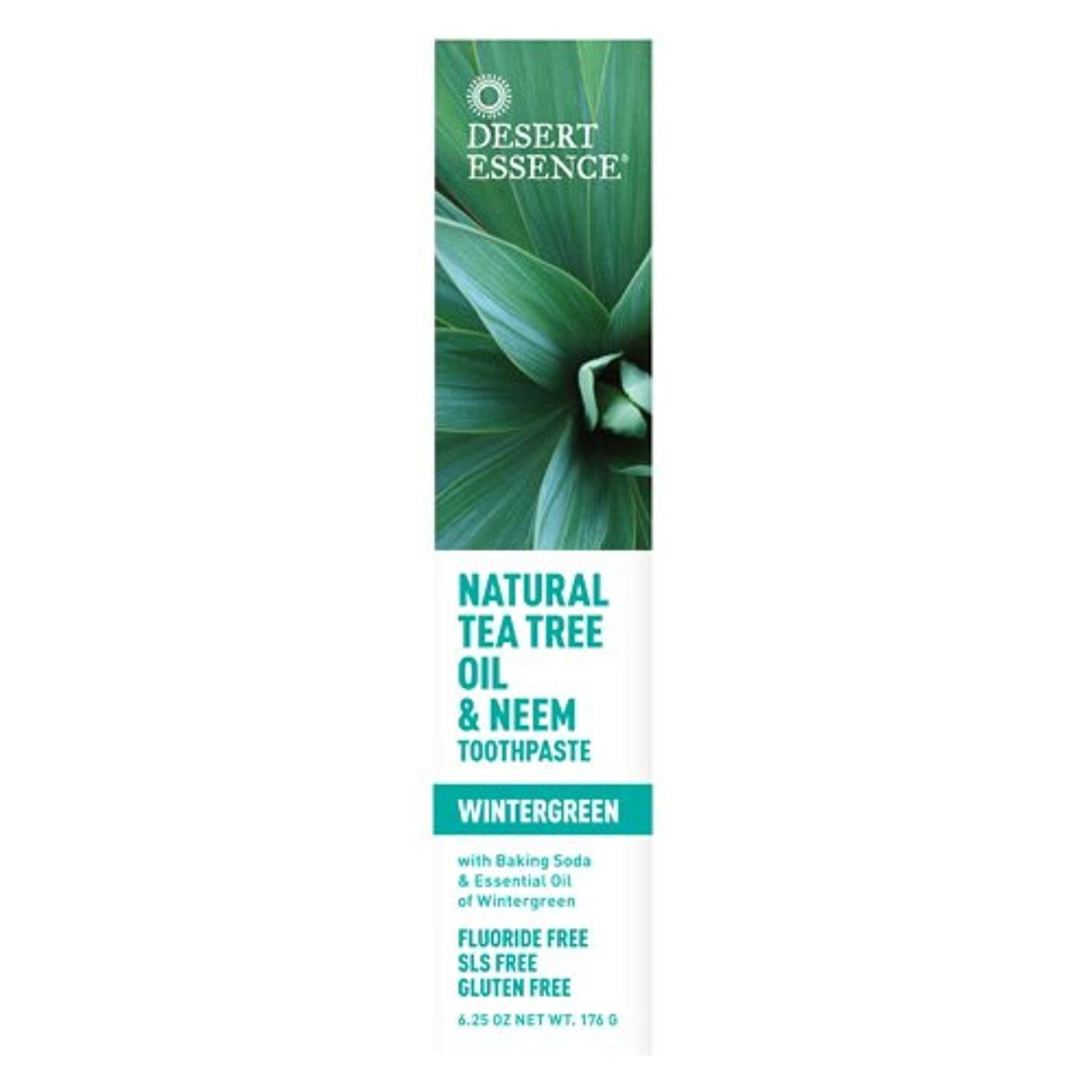 アラブ放射する険しいDesert Essence, Tea Tree Oil & Neem Tooth Winter 6.25 oz