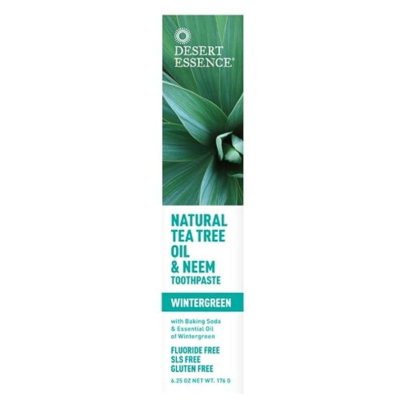 爆発到着する先にDesert Essence, Tea Tree Oil & Neem Tooth Winter 6.25 oz