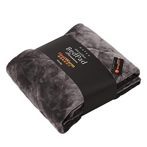 mofua(モフア)敷パッド プレミアムマイクロファイバー Heatwarm発熱 +2℃ タイプ 1年間品質保証 シングル グレー 60110113