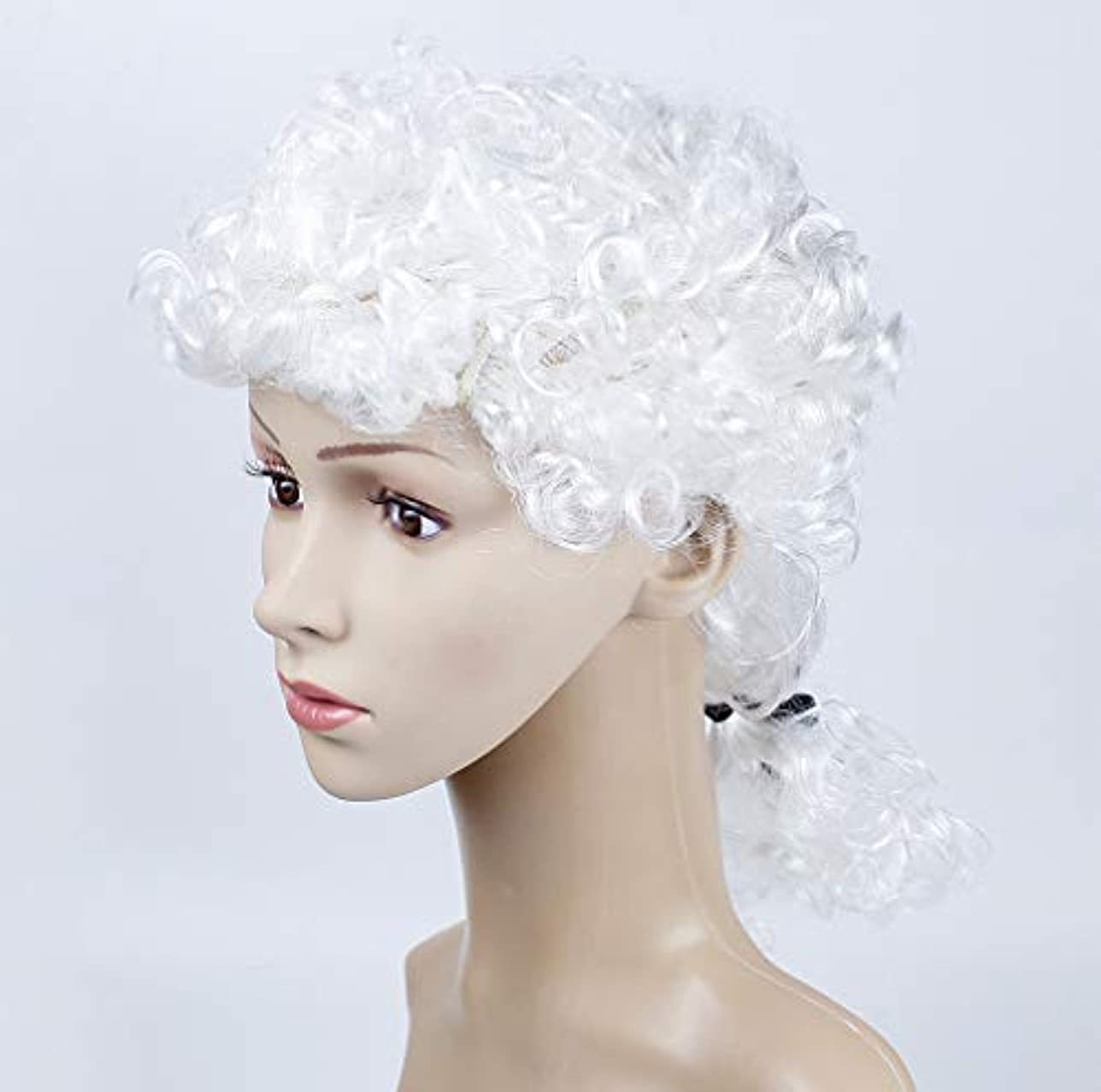 呼吸早める全く女性かつらサーカス漫画鼻マスクパーティー用品コスプレ衣装マジックドレスパーティー用品ハロウィンパーティーホワイト
