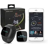 ubctech 2イン1ウェアラブルテニスセンサースマート歩数計腕時計Training AidスイングスポーツAnalyzer