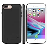 iPhone 6 7 8 Battery Case, FugouSell Portable Rechargeable Extended Backup Charger Juice External Power Bank Case Cover for iPhone 6 7 8 (Black)