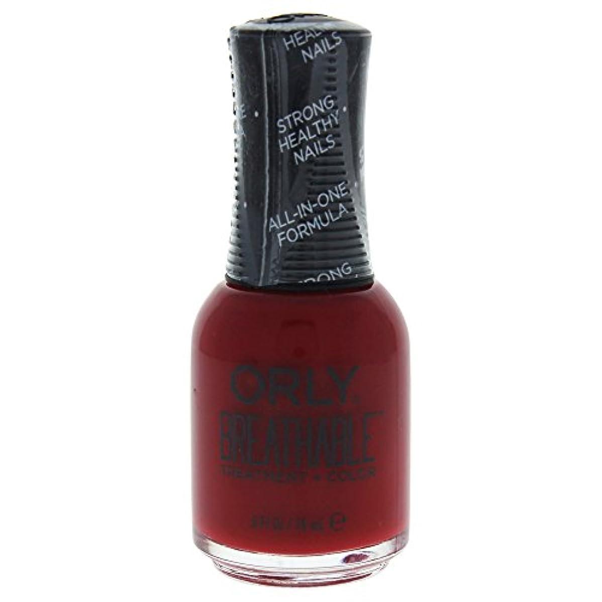 マイコンきらめく研磨剤Orly Breathable Treatment + Color Nail Lacquer - Namaste Healthy - 0.6oz / 18ml