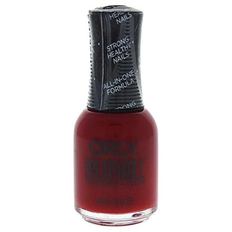 洞察力寸前転倒Orly Breathable Treatment + Color Nail Lacquer - Namaste Healthy - 0.6oz / 18ml