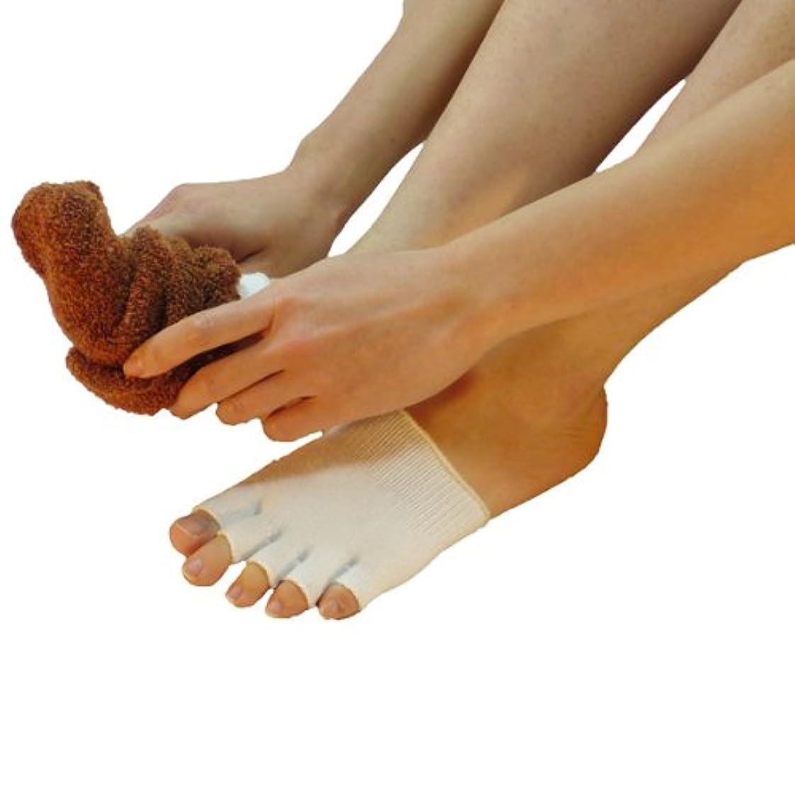 熟達した櫛正確な【足指動かしてますか】メントール加工5本指先なしハーフソックス5足組