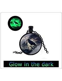 レイブンネックレスブラッククロウネックレスアートペンダントブラックレイヴンネックレスを輝きます