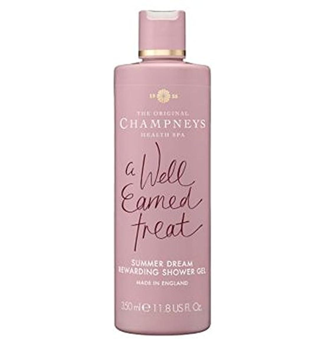 円形のパッド風が強いチャンプニーズの夏の夢やりがいのシャワージェル350ミリリットル (Champneys) (x2) - Champneys Summer Dream Rewarding Shower Gel 350ml (Pack of...
