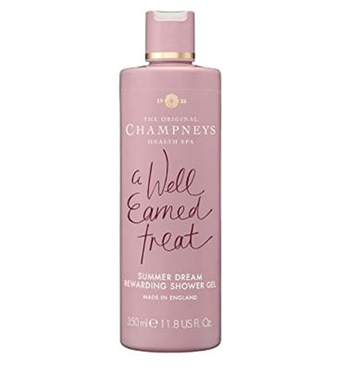 公然とラップ比べるチャンプニーズの夏の夢やりがいのシャワージェル350ミリリットル (Champneys) (x2) - Champneys Summer Dream Rewarding Shower Gel 350ml (Pack of...