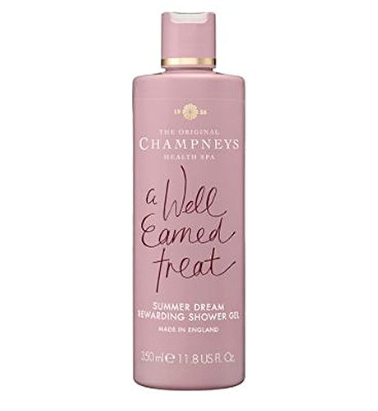 クリーナー洪水ウナギチャンプニーズの夏の夢やりがいのシャワージェル350ミリリットル (Champneys) (x2) - Champneys Summer Dream Rewarding Shower Gel 350ml (Pack of...