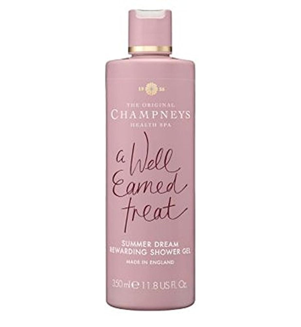 スリット裕福な通訳チャンプニーズの夏の夢やりがいのシャワージェル350ミリリットル (Champneys) (x2) - Champneys Summer Dream Rewarding Shower Gel 350ml (Pack of...