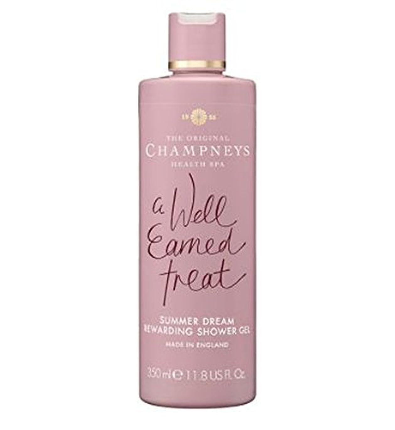 恥ずかしさ補助経度チャンプニーズの夏の夢やりがいのシャワージェル350ミリリットル (Champneys) (x2) - Champneys Summer Dream Rewarding Shower Gel 350ml (Pack of...
