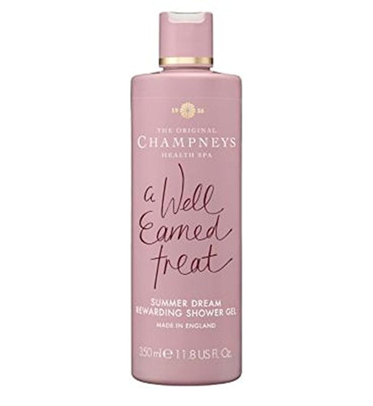 前兆先に対角線チャンプニーズの夏の夢やりがいのシャワージェル350ミリリットル (Champneys) (x2) - Champneys Summer Dream Rewarding Shower Gel 350ml (Pack of 2) [並行輸入品]