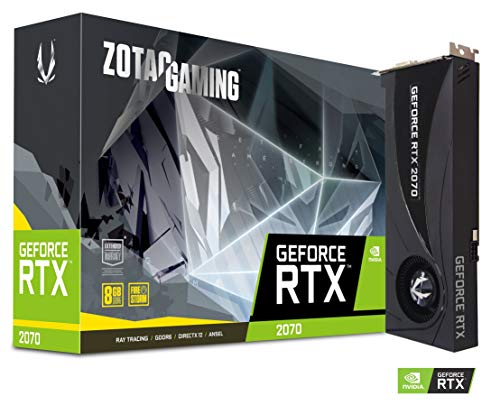 ZOTAC Gaming GeForce RTX 2070 ブロワー8GB GDDR6 256ビットデュアルスロットゲームグラフィックカード - ...