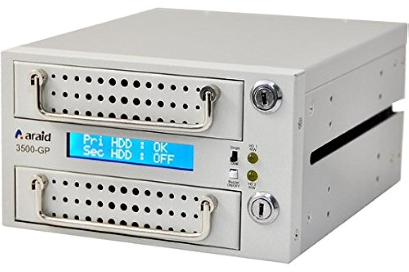 ベース瞑想好きであるARAID5000GP-A/M-W 本体 SATA/SATA LCD付内蔵型ミラーRAIDユニット RoHS対応品