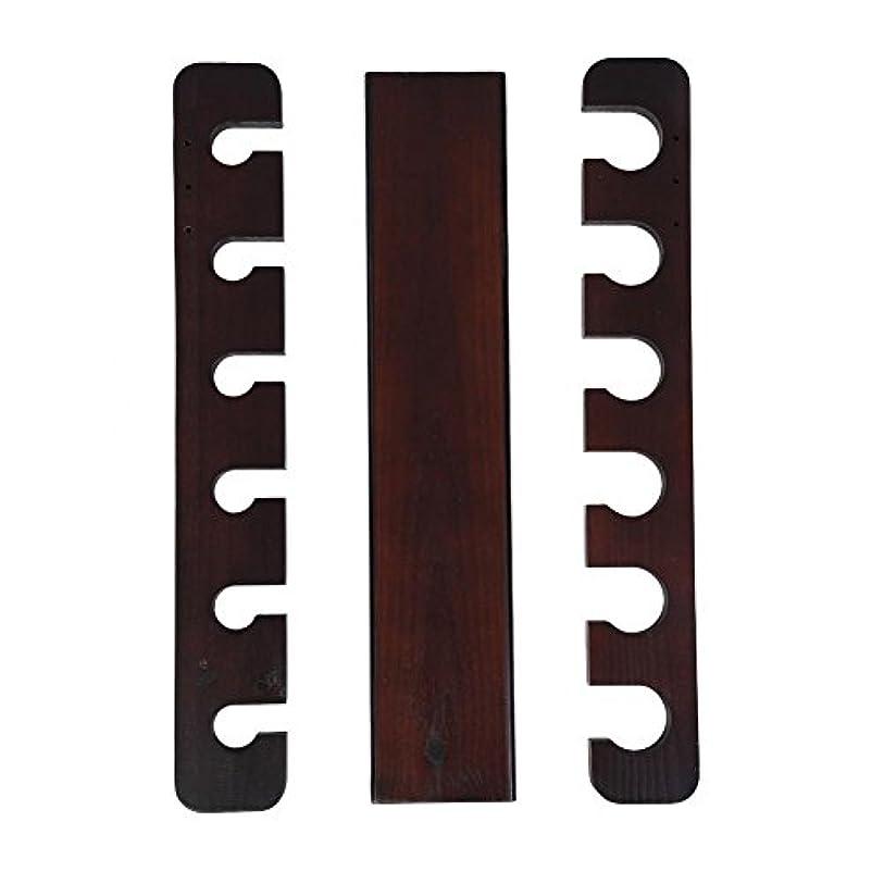 文庫本飛ぶナサニエル区釣り竿ラック木製6ロッドマウントポールリールホルダー釣り釣りロッド収納オーガナイザー2色