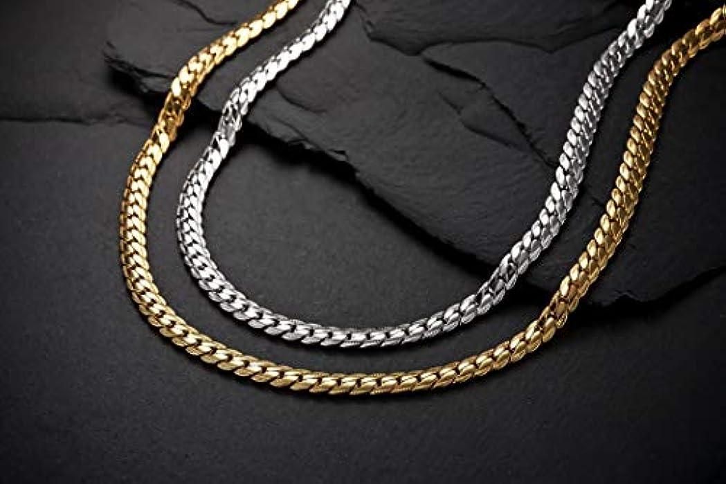 亡命サーバントコンベンションヘリンボーン ペレバレンチノ 天然ダイヤモンド磁気ネックレス (ゴールド、Lサイズ)