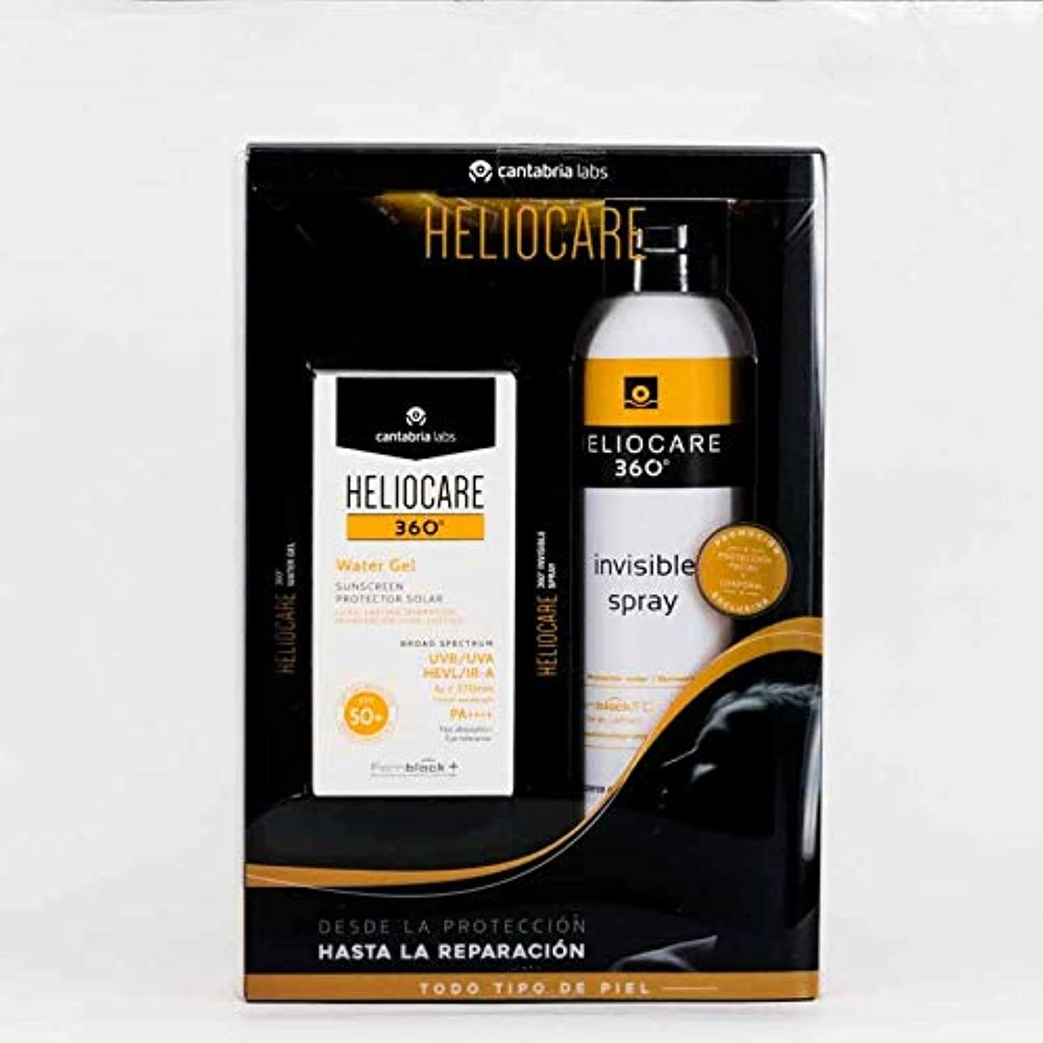 HELIOCARE PACK 360 WATER GEL SPF50+ 50 ML + SPRAY INVISIBLE SPF50+ 200 ML
