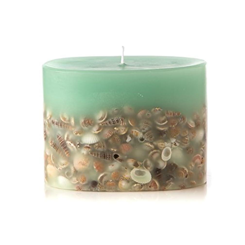 厳密に収容するプラグロージーリングス プティボタニカルキャンドル シーグラス ROSY RINGS Petite Oval Botanical Candle Sea Glass