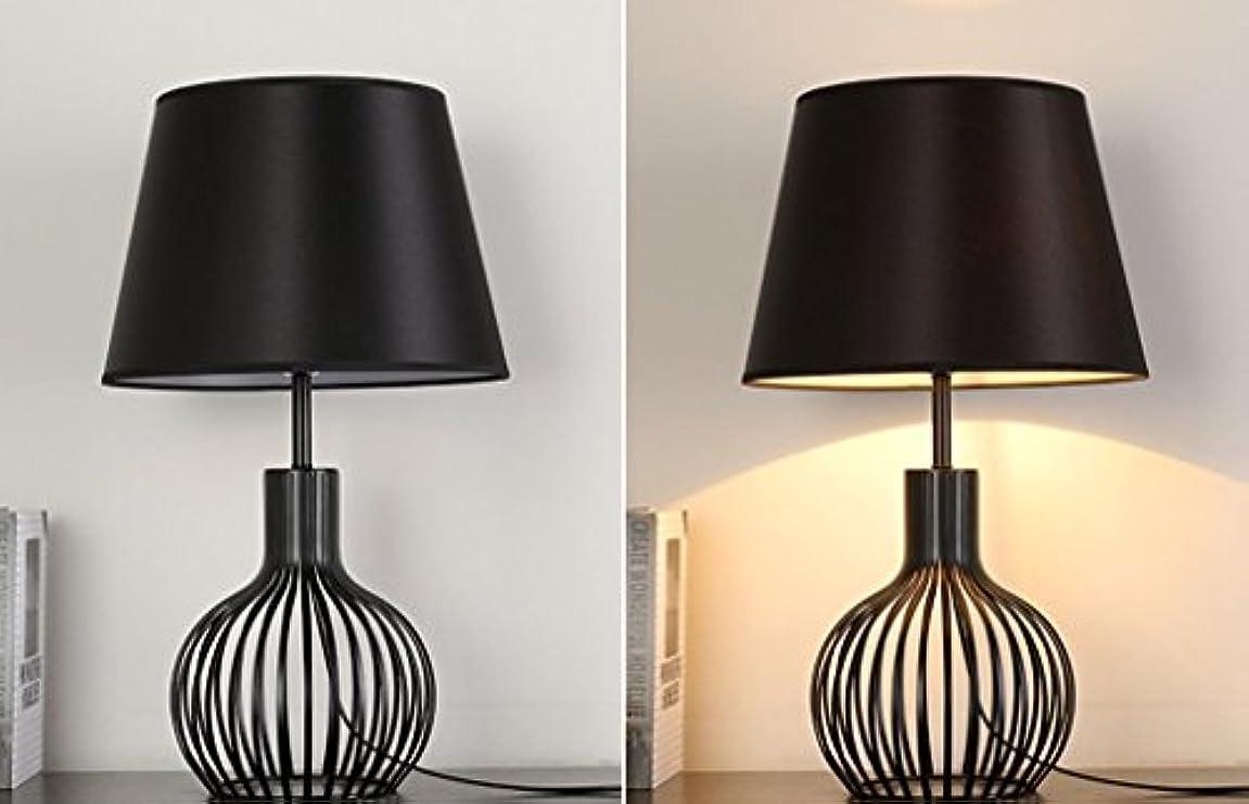 かりて道路ほこり現代のテーブルランプメタルバスケットケージスタイルのテーブルランプベッドルームのベッドサイドの居間の研究と仕事の装飾のホテルのデスクランプ、黒と白(色:黒),Black
