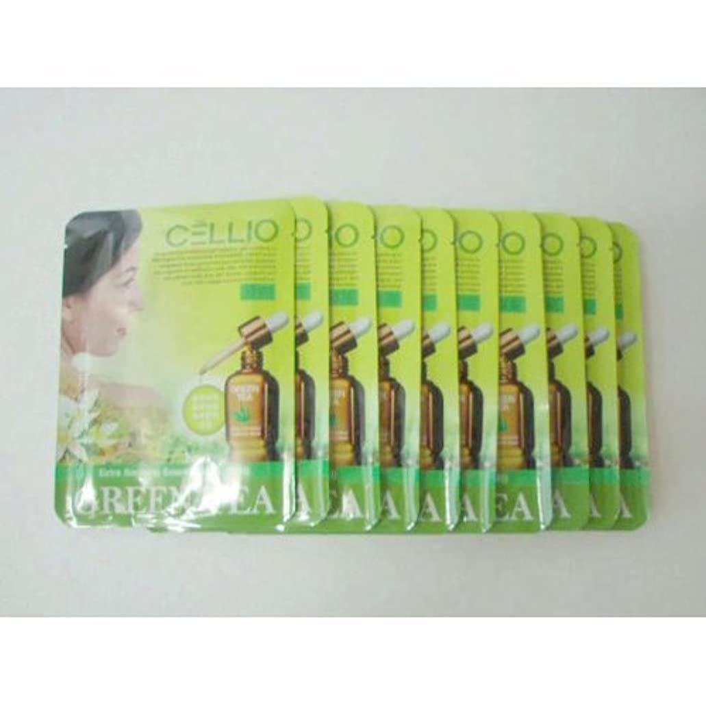 同意スロー歯車Cellio Extra Soothing Essential Mask_Green Tea_10 sheets