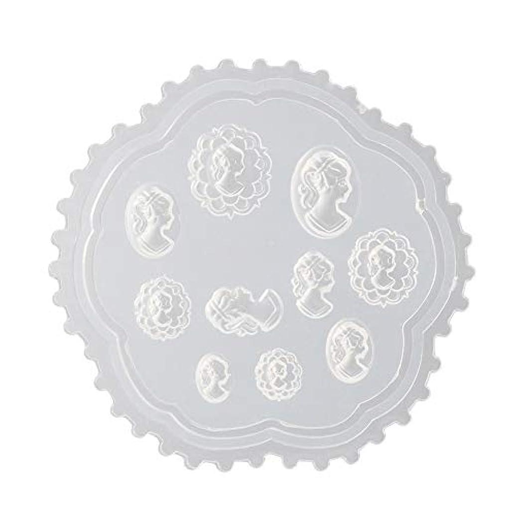 Lindexs 3Dシリコンモールド ネイル 葉 花 抜き型 3Dネイル用 レジンモールド UVレジン ネイルパーツ ジェル ネイル セット アクセサリー パーツ 作成 (2#)