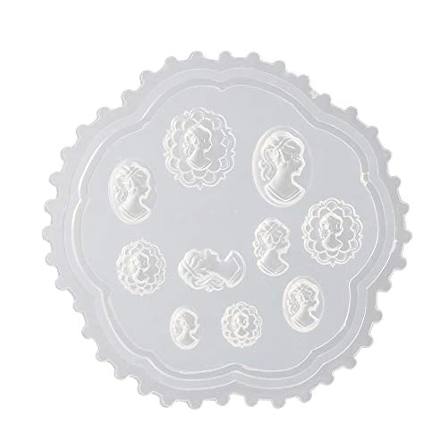 デンマーク殺すアフリカLindexs 3Dシリコンモールド ネイル 葉 花 抜き型 3Dネイル用 レジンモールド UVレジン ネイルパーツ ジェル ネイル セット アクセサリー パーツ 作成 (2#)