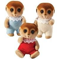 Calico Critters Spotter Meerkat Triplets(並行輸入)