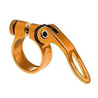 Homyl シートポスト クランプ チューブ クリップ クイック リリース マウンテンロードバイク パーツ 31.8mm 全5色 - ゴールド