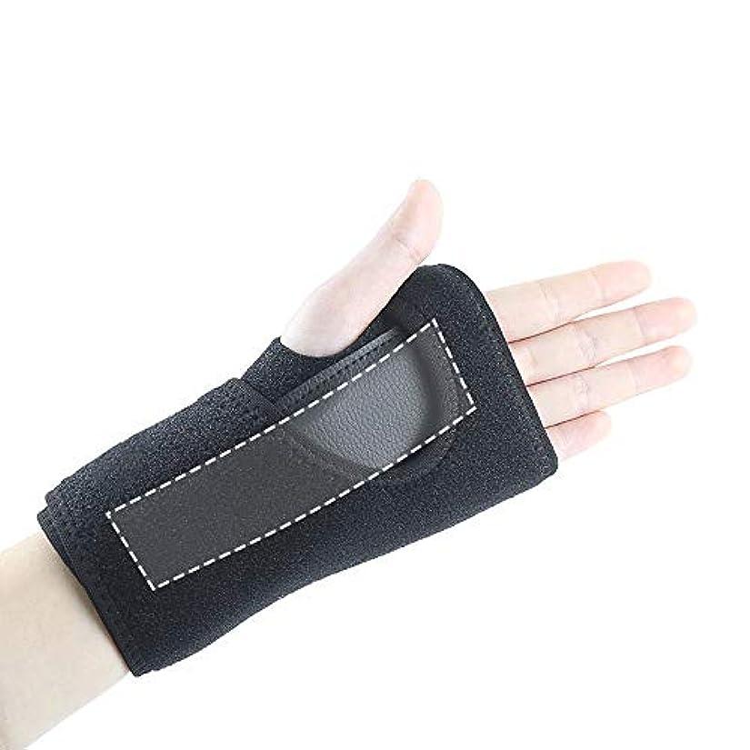 抗生物質ビタミン硫黄ZYL-YL スポーツリストバンド捻挫手首固定保護具スプリントサポートパームハンドマウスの手のサポートハンドスプリント (Edition : Left)