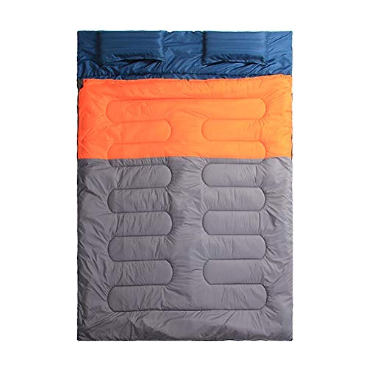 毎月忠実ウナギキャンプ、バックパッキング、ハイキング、テント、キャンピングカー用屋外用二人用寝袋、軽量コンパクト