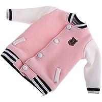 Kesoto 12インチ ブライス人形用 ピンク 可愛い コットン製  スポーツ服  野球ユニフォーム