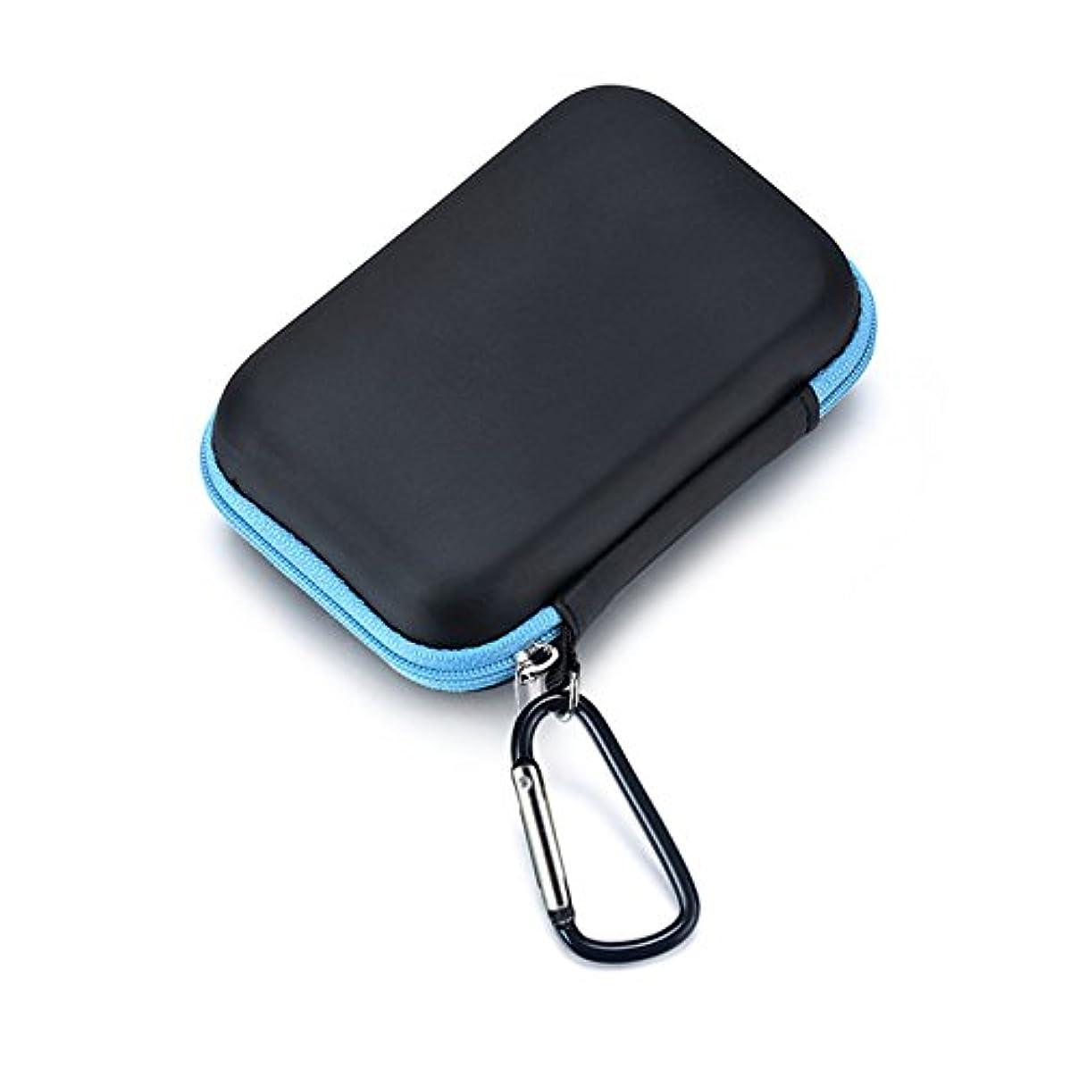 煩わしい中で任命するQIN エッセンシャルオイル収納ケース 精油ケース 化粧ポーチ 携帯用化粧バッグ メイクボックス 精油 ケース ミニボトルケース 13.5 * 8.5 * 4.5cm 15本用